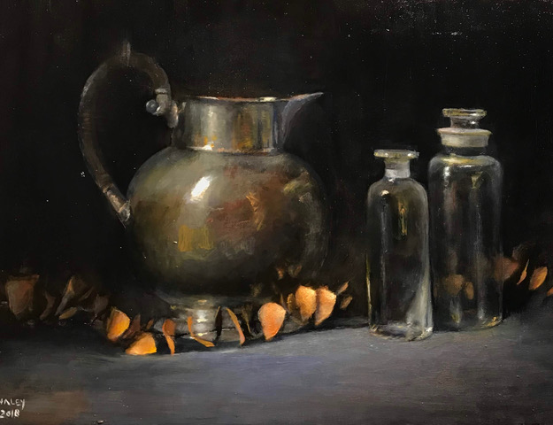 Silver Pitcher with Glass Jars (sold)